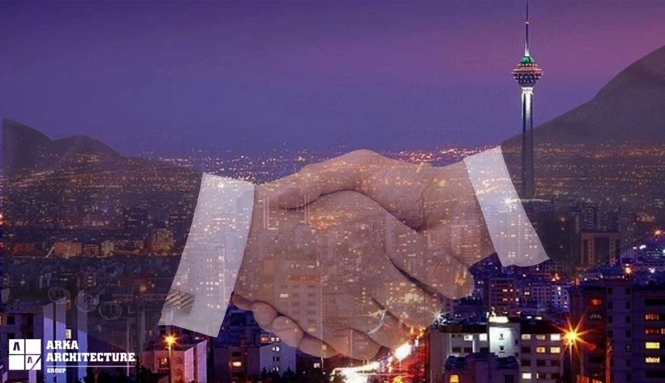 درصد مشارکت در ساخت در تهران