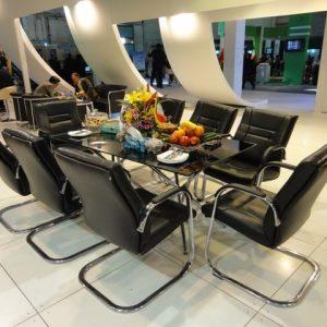 اجاره میز کنفرانس هشت نفره با صندلی ست