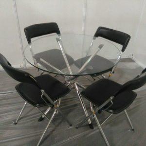 اجاره میز و صندلی تاشو مشکی