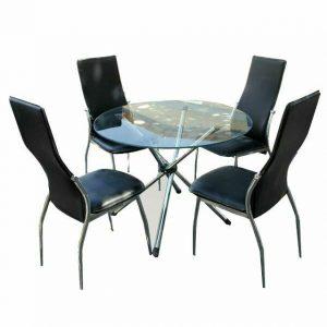 اجاره میز شیشه ای و صندلی پشت بلند