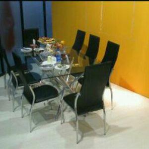 اجاره میز کنفرانس هشت نفره با صندلی پشت بلند