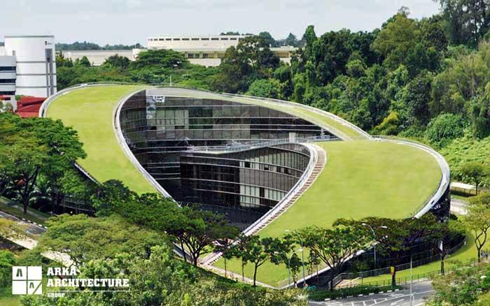 ساختمان اداری سبز