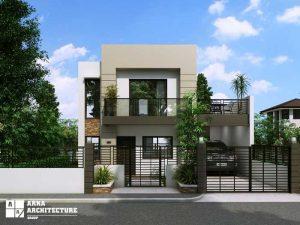 طراحی ساختمان دو طبقه