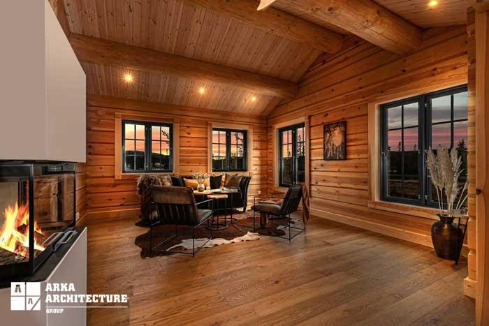 طراحی داخلی کلبه