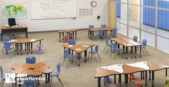 دکوراسیون داخلی کلاس درس